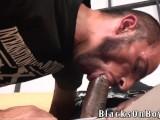 Bearded Guy Does Bareback Interracial Gay Porn